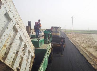 Construction of road and pavement by asphalt Al-Dara at and Gumaila Roads in Al-Sharqat, Salahuddin Governorate