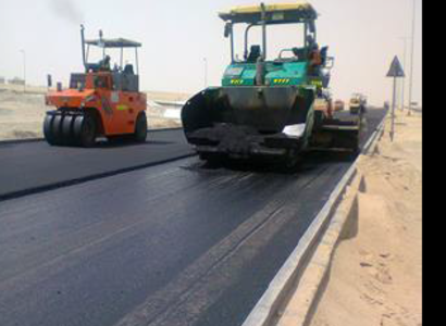 Construction of road and pavement by asphalt between Al-Zwyia and Alnamel Roads2.