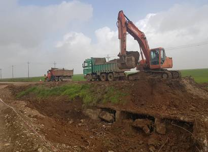 Emergency maintenance of the Culvert, bridg and the filling the excavated places , in the road of Talkif AlQush